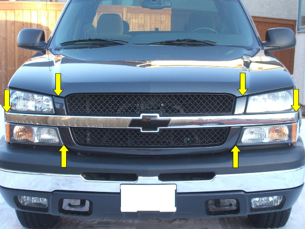3 Simple Steps to Replace Front Grill for 2003-2005 Chevy Silverado - Step 2