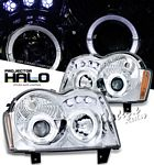 Jeep Grand Cherokee 2005-2007 Clear Halo Projector Headlights with LED