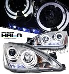 2003 Honda Accord Clear Halo Projector Headlights with LED DRL