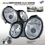 Mercedes Benz CLK 1998-2002 Depo Clear AMG Projector Headlights