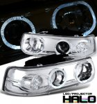 2005 Chevy Suburban Clear LED Halo Projector Headlights