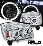 2004 Nissan Titan Clear Dual Halo Projector Headlights