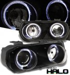 1994 Acura Integra Black Dual Halo Projector Headlights