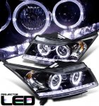 2012 Chevy Cruze Black Halo Projector Headlights with LED