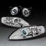 1997 Lexus SC300 Clear High Beam and CCFL Halo Projector Headlights Set