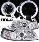 2001 Ford Mustang Clear Dual Halo Projector Headlights