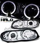 1999 Chevy Camaro Clear Dual Halo Projector Headlights with Integrated LED