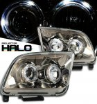 Ford Mustang 2005-2009 Smoked Dual Halo Projector Headlights