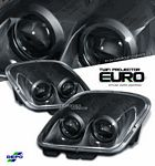 Chevy Corvette 1997-2004 Depo Black Le Mans Style Projector Headlights