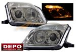 2001 Honda Prelude Depo Clear Projector Headlights