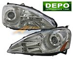 Acura RSX 2005-2006 Depo Clear Projector Headlights