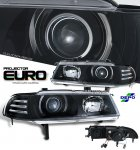 Honda Prelude 1992-1996 Depo JDM Black Projector Headlights