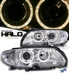 2004 BMW 3 Series Coupe Depo Clear Halo Projector Headlights