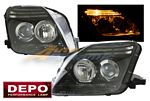 Honda Prelude 1997-2001 Depo Black Projector Headlights