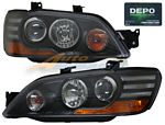 Mitsubishi Lancer 2002-2003 Depo Black Projector Headlights