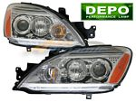 2007 Mitsubishi Lancer Depo Clear Projector Headlights