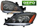 Mitsubishi Lancer 2004-2007 Depo Black Projector Headlights
