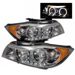 BMW 3 Series E90 Sedan 2006-2008 Clear Dual Halo Projector Headlights