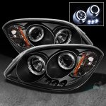 2007 Pontiac G5 Black Dual Halo Projector Headlights with LED