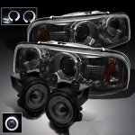 2004 GMC Sierra Denali Smoked Halo Projector Headlights and Fog Lights Set