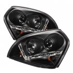 Hyundai Tucson 2005-2009 Black Projector Headlights with LED Daytime Running Lights