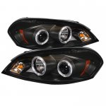 Chevy Impala 2006-2010 Black CCFL Halo Projector Headlights