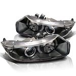 Honda Civic Coupe 2006-2011 JDM Black Dual Halo Projector Headlights