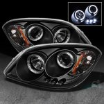 Chevy Cobalt 2005-2010 Black Dual Halo Projector Headlights with LED