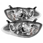 2007 Toyota Corolla Clear CCFL Halo Projector Headlights with LED