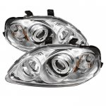 2000 Honda Civic Clear Dual CCFL Halo Projector Headlights