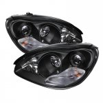 2006 Mercedes Benz S Class Black HID Projector Headlights
