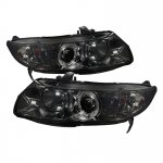 Honda Civic Coupe 2006-2011 Smoked Halo Projector Headlights