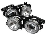 1996 BMW E34 5 Series Clear Dual Halo Projector Headlights