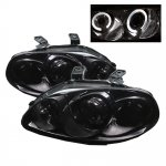 Honda Civic 1996-1998 Smoked Dual Halo Projector Headlights