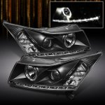 2012 Chevy Cruze Black Halo Projector Headlights with LED DRL