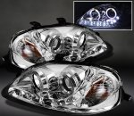 2000 Honda Civic Clear Halo Projector Headlights with LED DRL