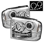 2005 Ford F250 Super Duty Clear Halo Projector Headlights with LED