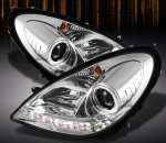 Mercedes Benz SLK 2005-2011 Clear Halo Projector Headlights