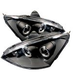 2004 Ford Focus Black Dual Halo Projector Headlights