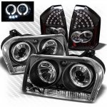 Chrysler 300 2005-2007 Black CCFL Halo Headlights and LED Tail Lights