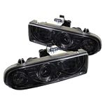 2002 Chevy S10 Smoked Halo Projector Headlights