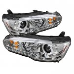 Mitsubishi Lancer 2008-2012 Clear Halo HID Projector Headlights with LED