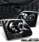 2002 Ford F150 Black Projector Headlights