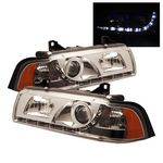 1996 BMW E36 Coupe Clear Projector Headlights with LED Daytime Running Lights