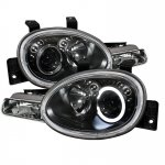 Dodge Neon 1995-1999 Black Halo Projector Headlights