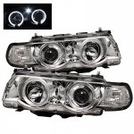 2001 BMW 7 Series Clear Dual Halo Projector Headlights