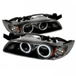 1998 Pontiac Grand Prix Black CCFL Halo Projector Headlights