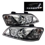 Pontiac G8 2008-2009 Clear Projector Headlights with LED Daytime Running Lights