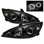 Toyota Camry 2002-2006 Black Dual Halo Projector Headlights