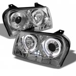 Chrysler 300 2009-2010 Clear Halo Projector Headlights with LED